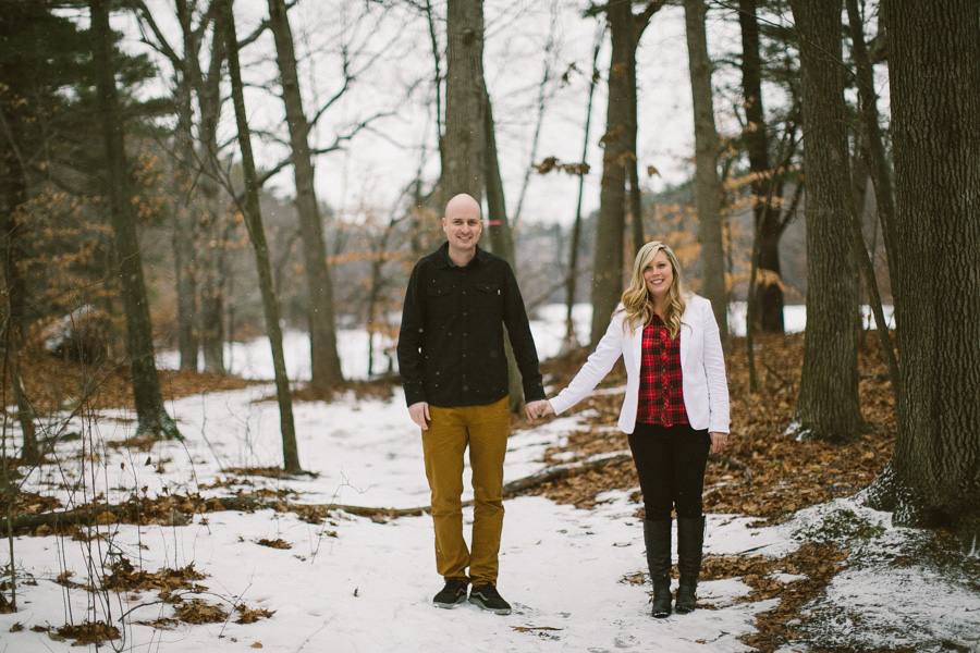 New England Winter Engagement Session