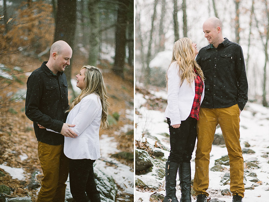 Snowy Engagement Session
