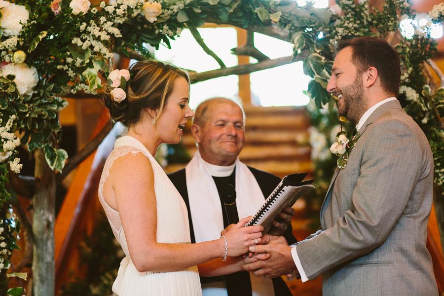 Intimate Barn Wedding Ceremony