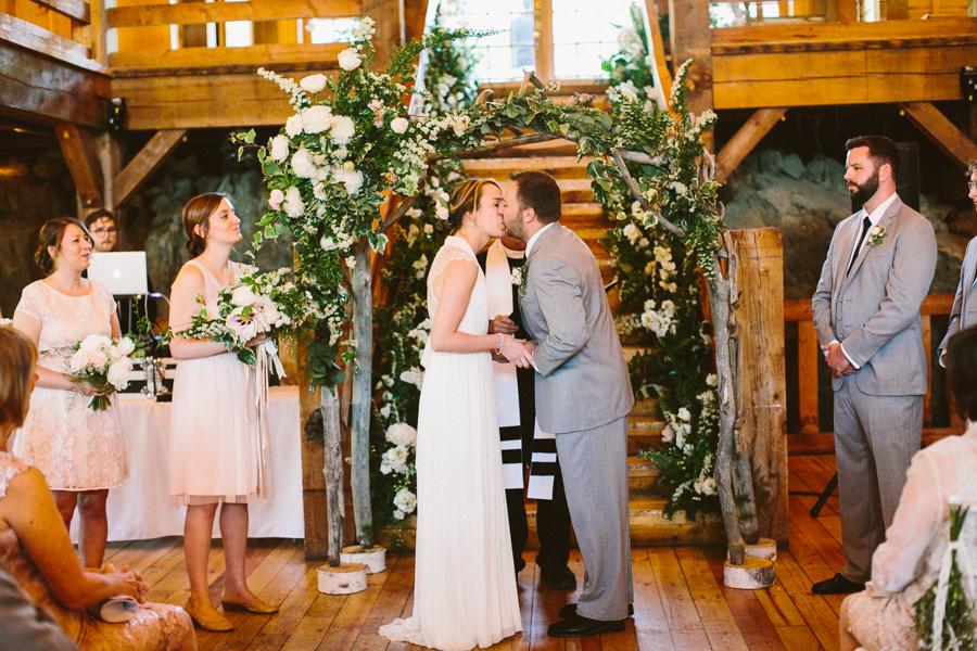 Massachusetts Barn Wedding Ceremony