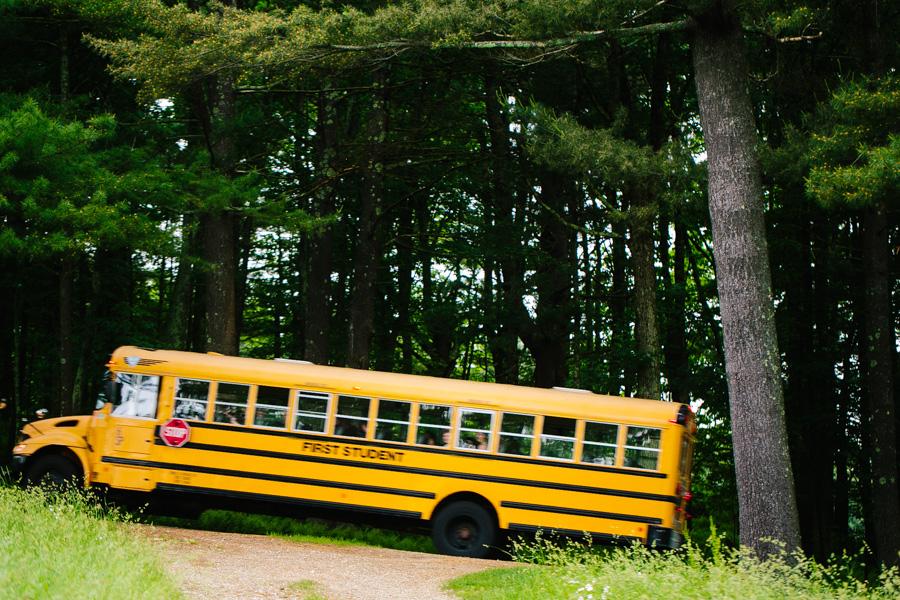 Wedding School Bus