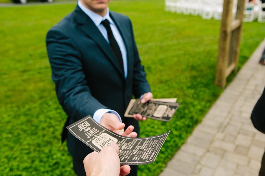 DIY New England Wedding Programs
