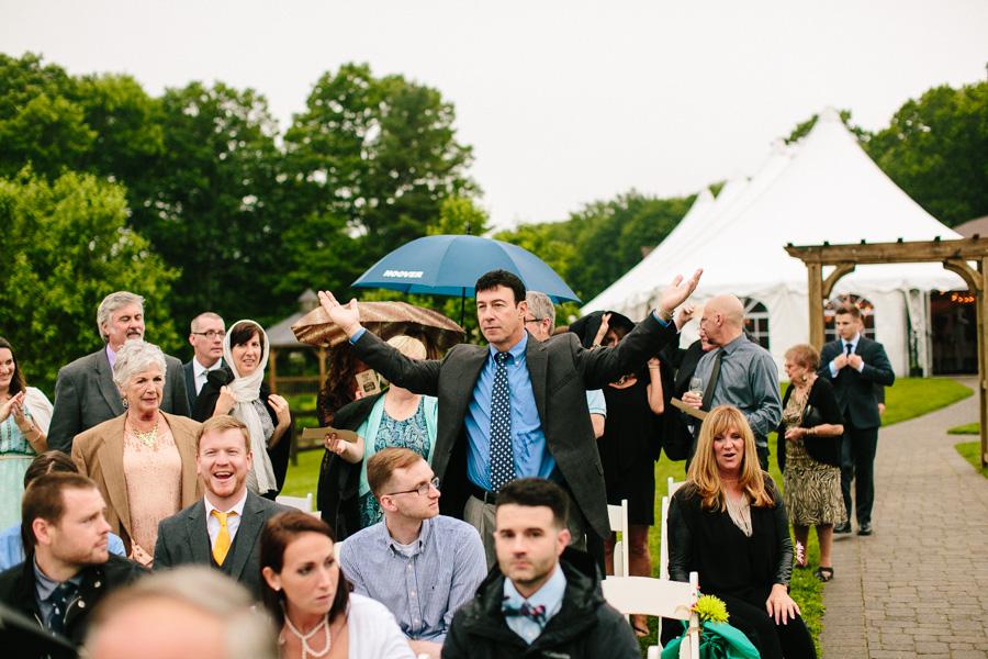 Outdoor Rainy Ceremony