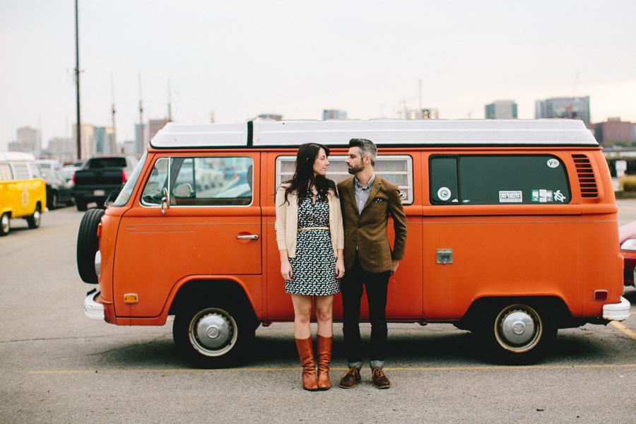 Vintage VW Bus Engagement