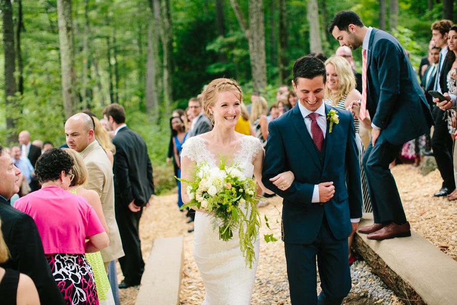 New England Summer Camp Wedding Ceremony