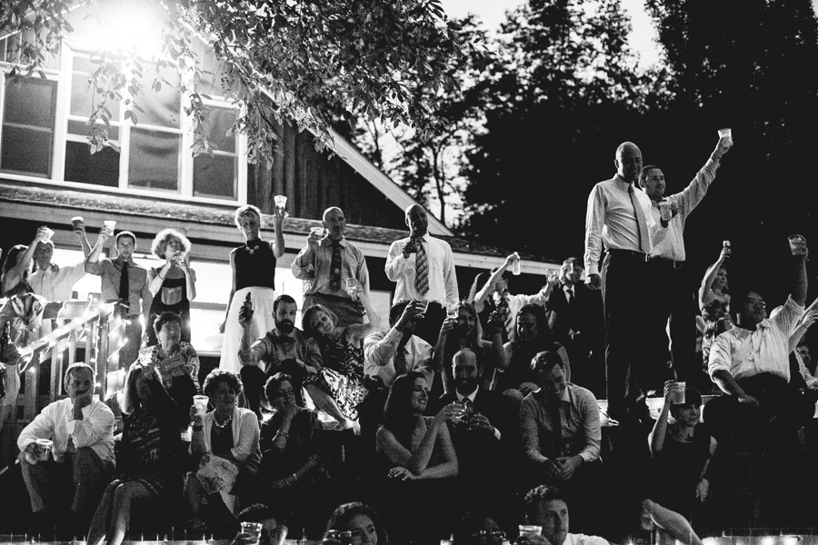 New England Summer Camp Wedding Reception