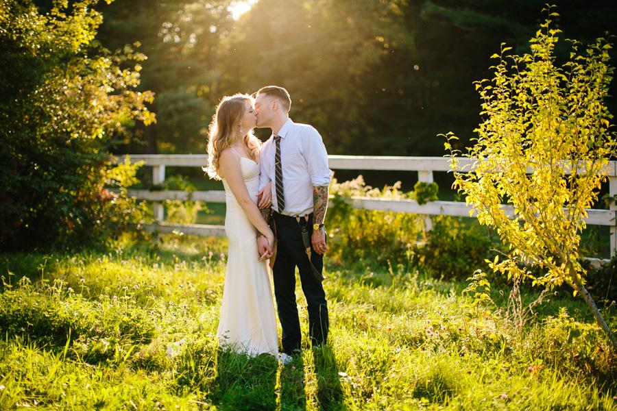 Creative New England Wedding Portrait