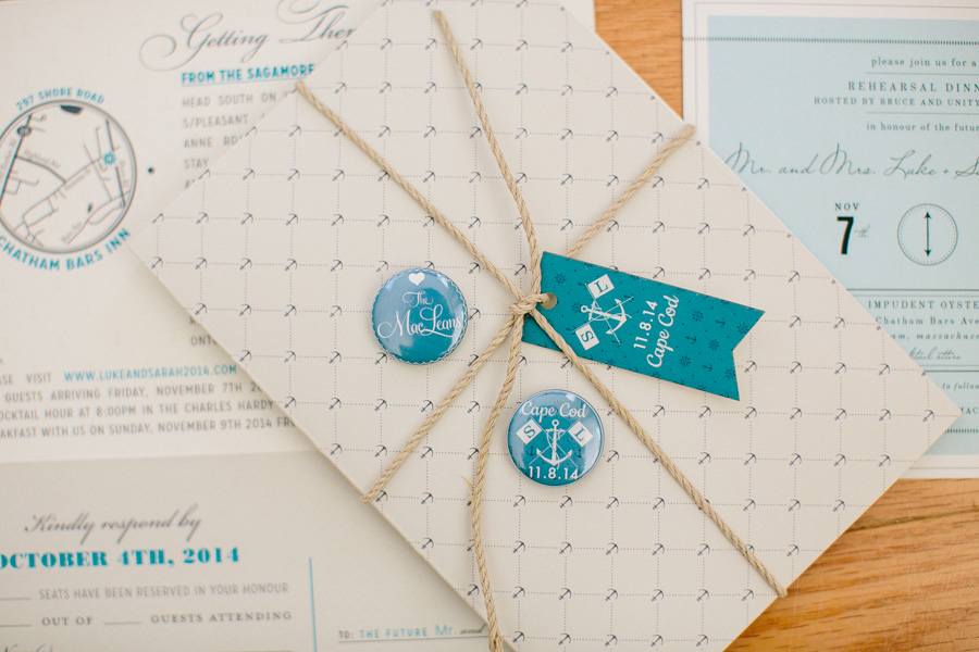 Creative Cape Cod Wedding Details