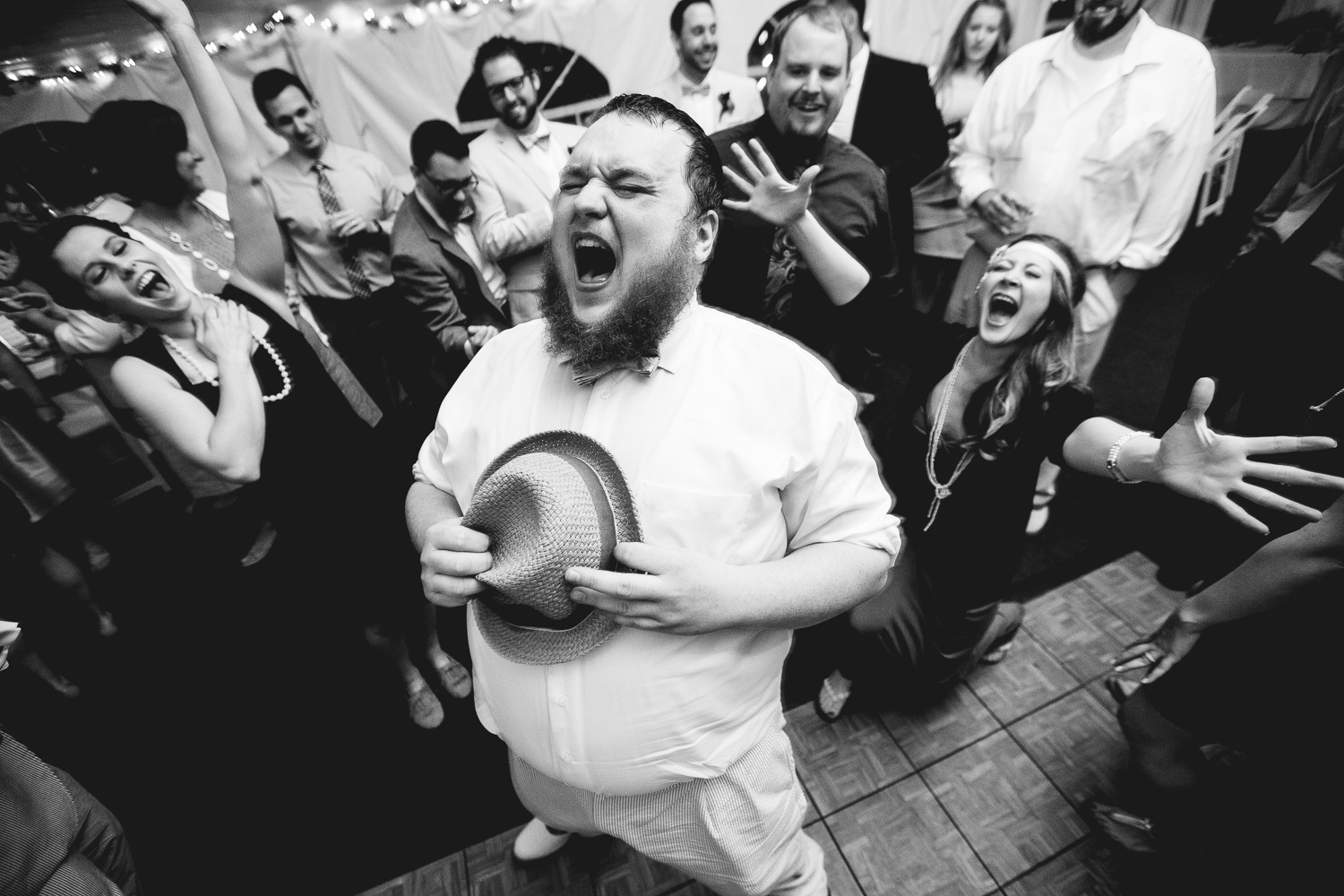 Epic Wedding Reception Photo
