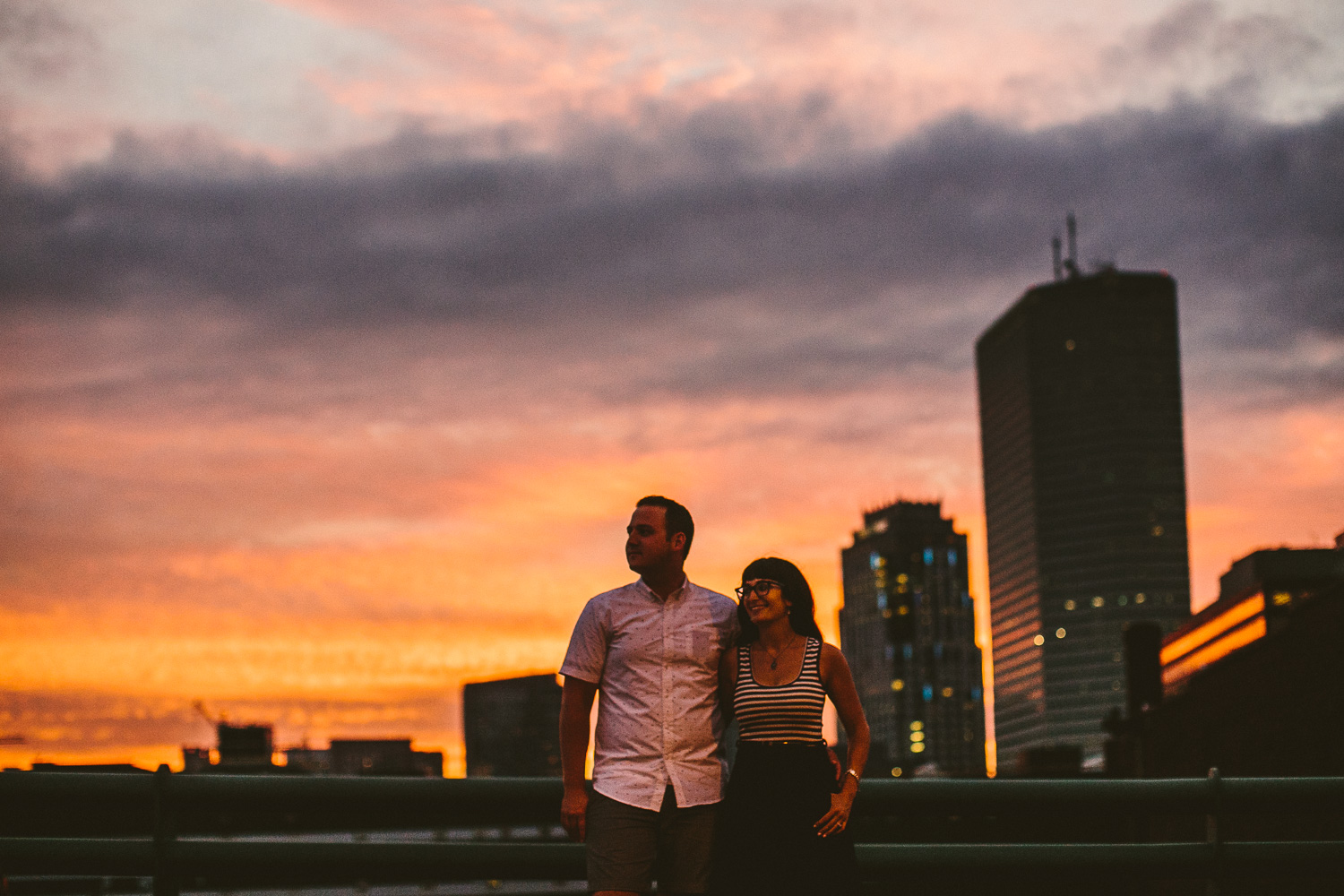 Urban Sunset Engagement