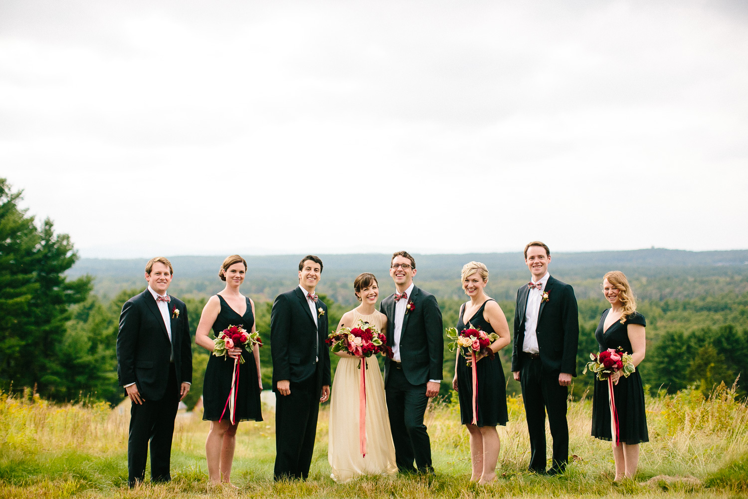 Rustic New England Wedding Party