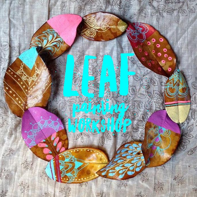 $35 Leaf Painting Workshop