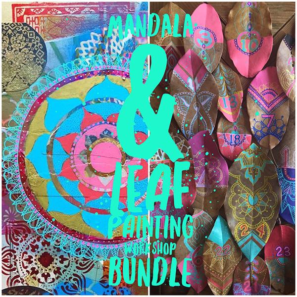 $70 Mandala & Leaf Painting Workshop Bundle