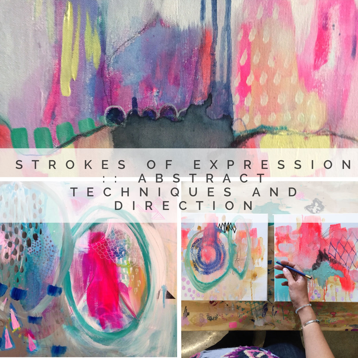 #2: Strokes of Expression :: - Abstract Techniques and DirectionThis Painting the Sacred Within Episode is the perfect Companion to Chapter 2 in our book! All of these lessons will help you go deeper into the topic of Abstract Painting. With we'll walk you through with step by step instructional videos, inspirational prompts, PDF downloads, guided activities, tips and tricks, we'll dive deeply into into this topic exploring …