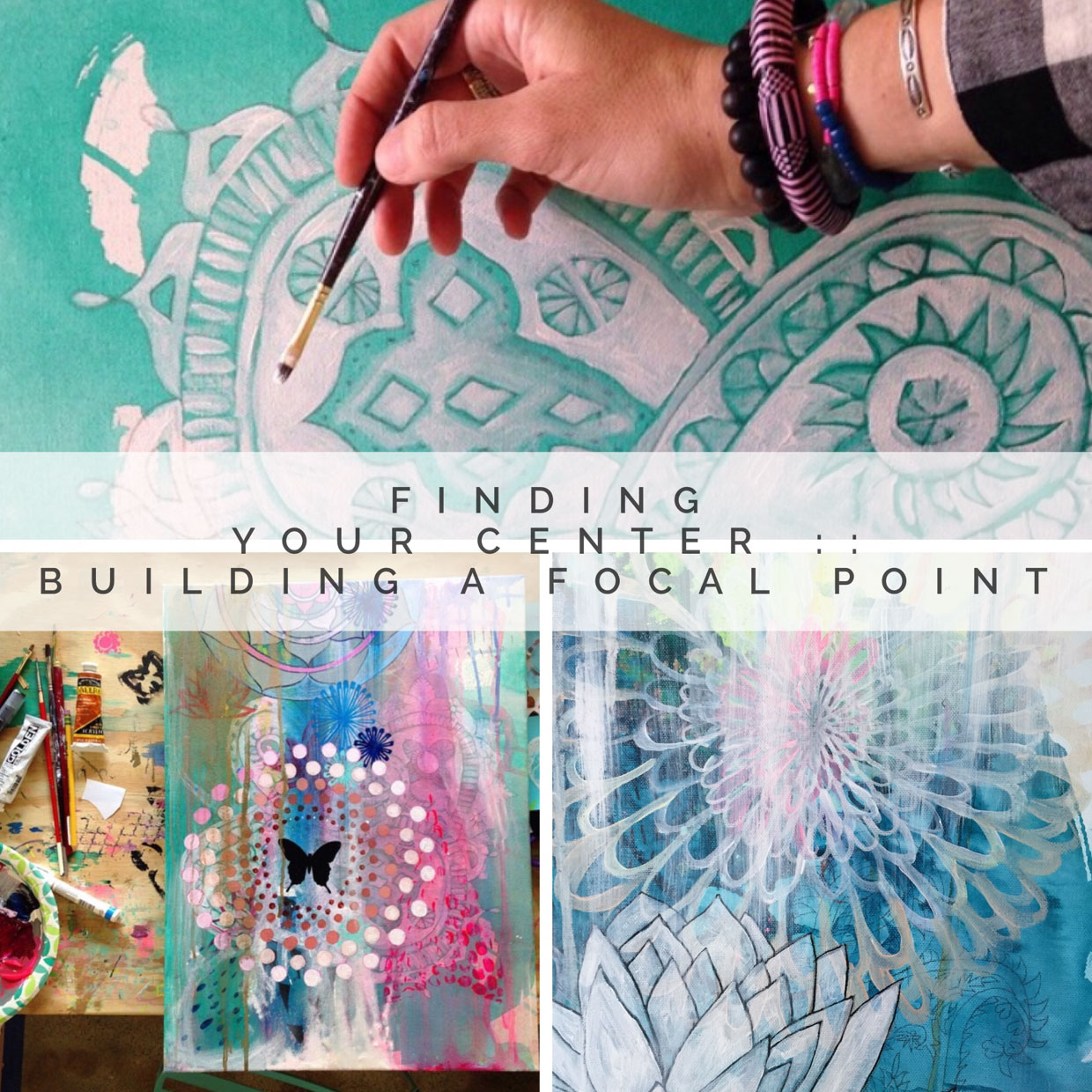 #6. Finding Your Center :: - Building a Focal PointThis Painting the Sacred Within Episode is the perfect companion to Chapter 5 in our book! Here we flesh out the lessons for you in long start to finish painting demo videos, where we want you to feel like you are painting right along with us! All of these lessons will help you go deeper into the topic of Building a Focal Point in your…