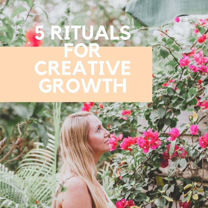 Grab my Free Guide: 5 Rituals for Creative Growth! - AN E-BOOK FULL OF SIMPLE TIPS TO HELP YOU STAY CALM, PRESENT AND INSPIRED!MORE MAGIC + MORE INSPIRATION