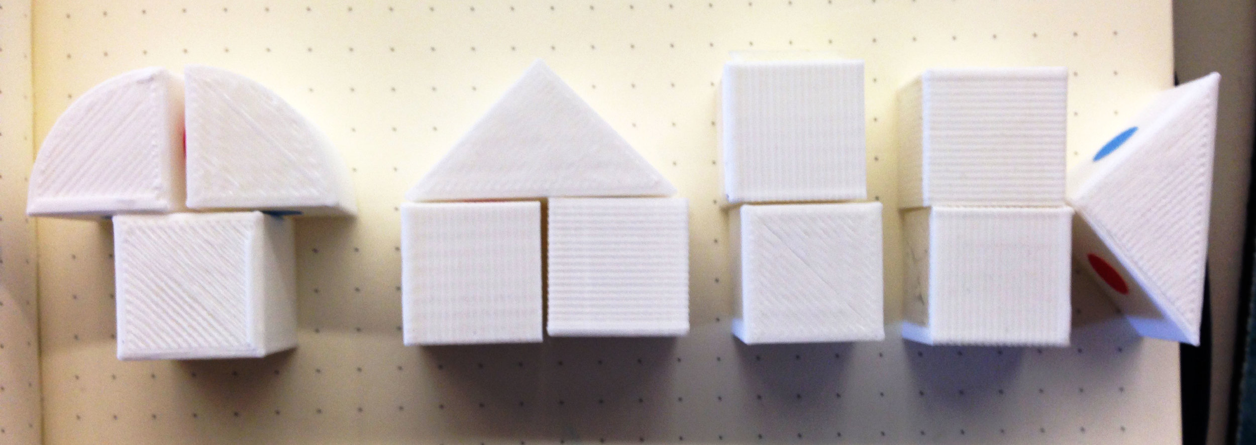 Exploring form with 3D printed modular blocks.