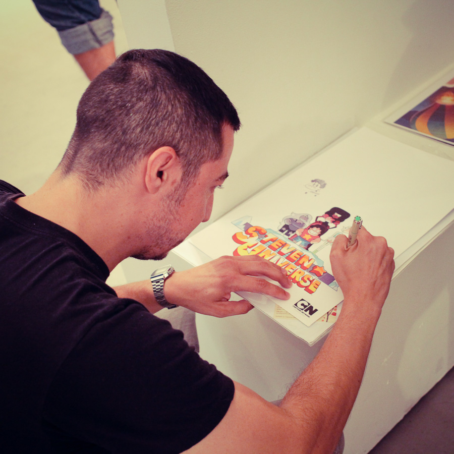 Andy Garner-Flexner signing my poster!