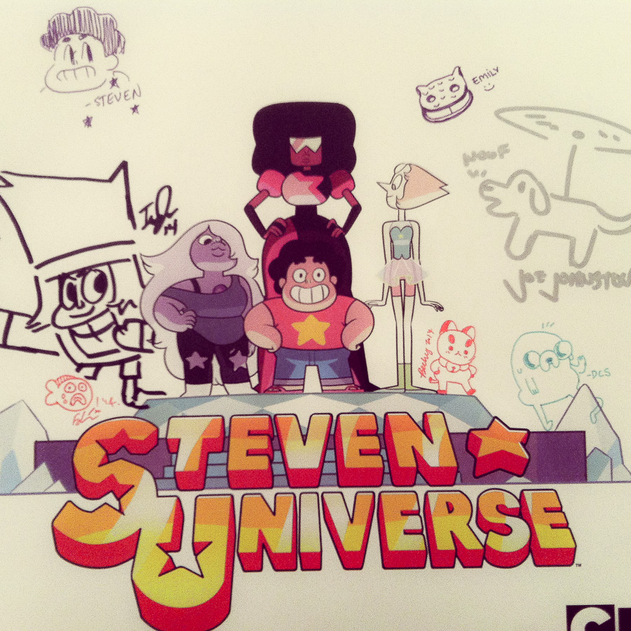 Filled up my Steven Universe poster with signatures!