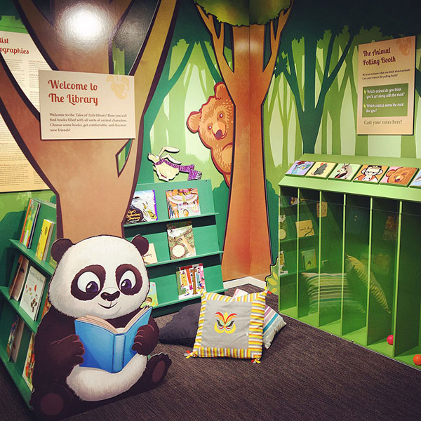 I painted the reading Panda bear!