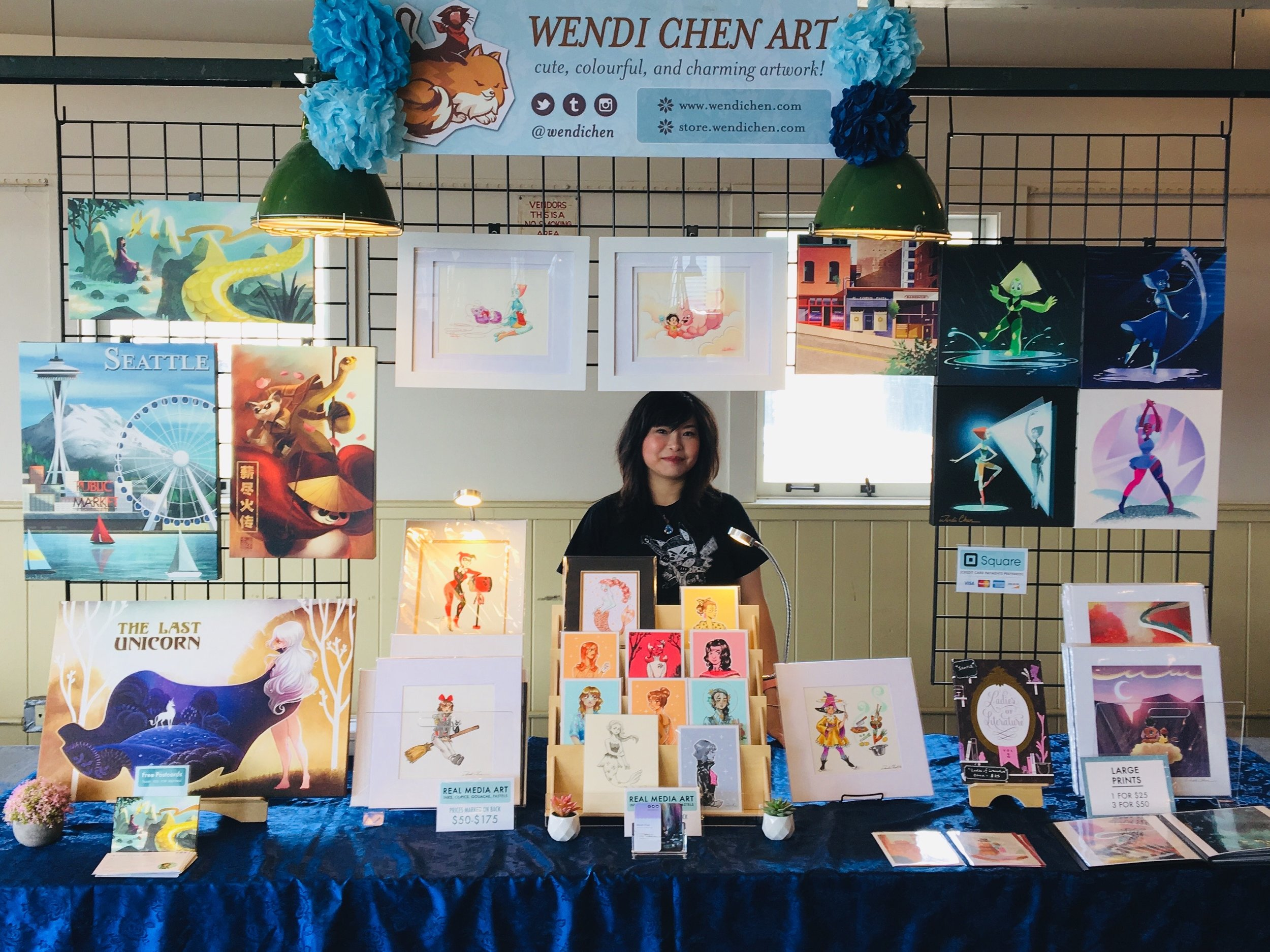 2019 Craft Fair Set-Up at Pike Place Market
