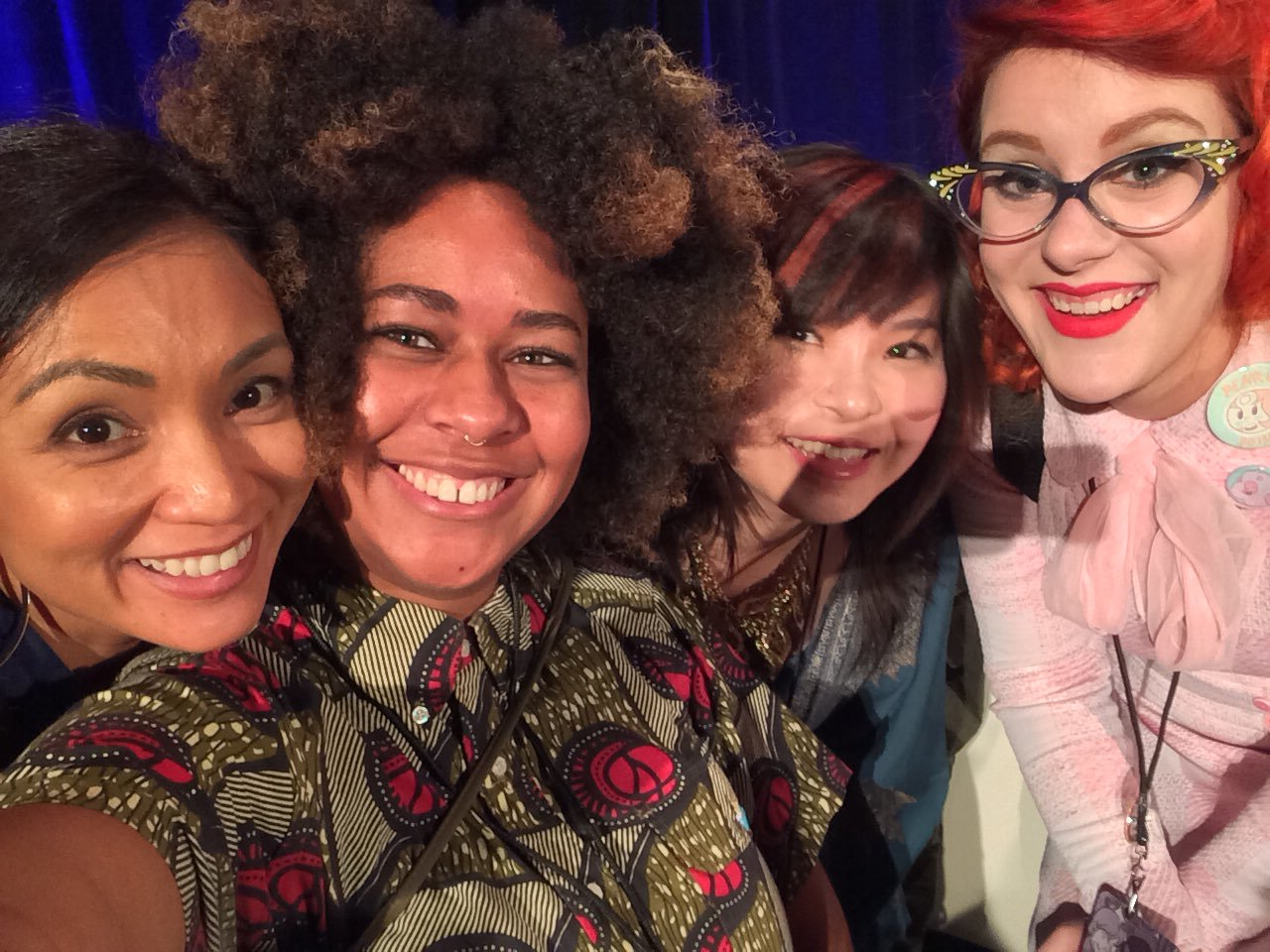 I feel so lucky to have shared a panel with this amazing group of talented ladies!