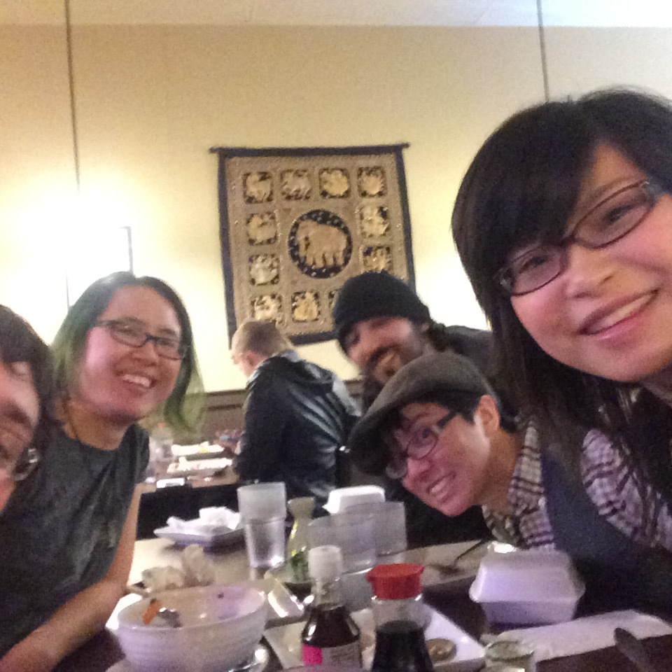 Post-convention dinner with THE BESTEST ARTISTS