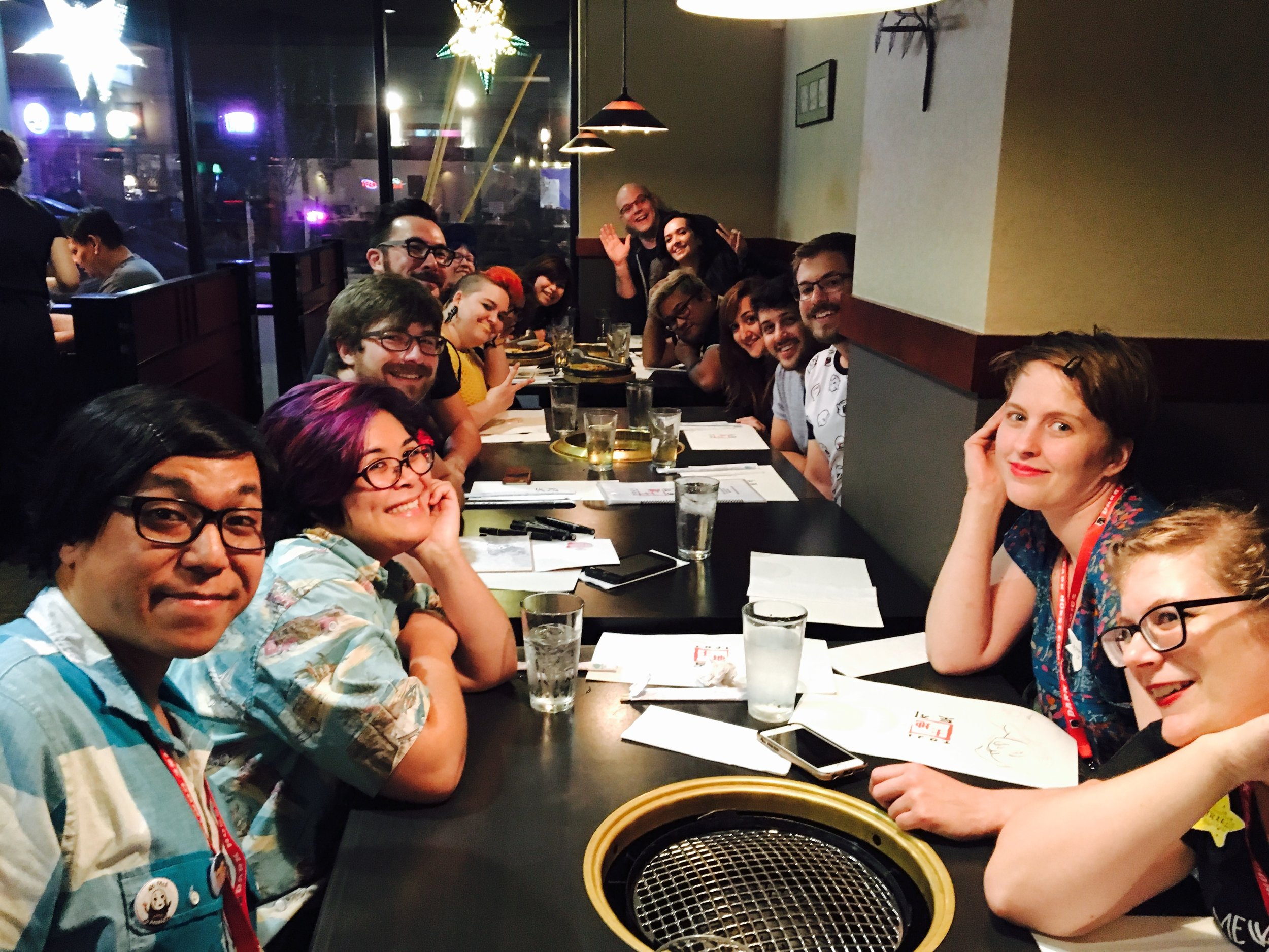 Post-convention dinner group