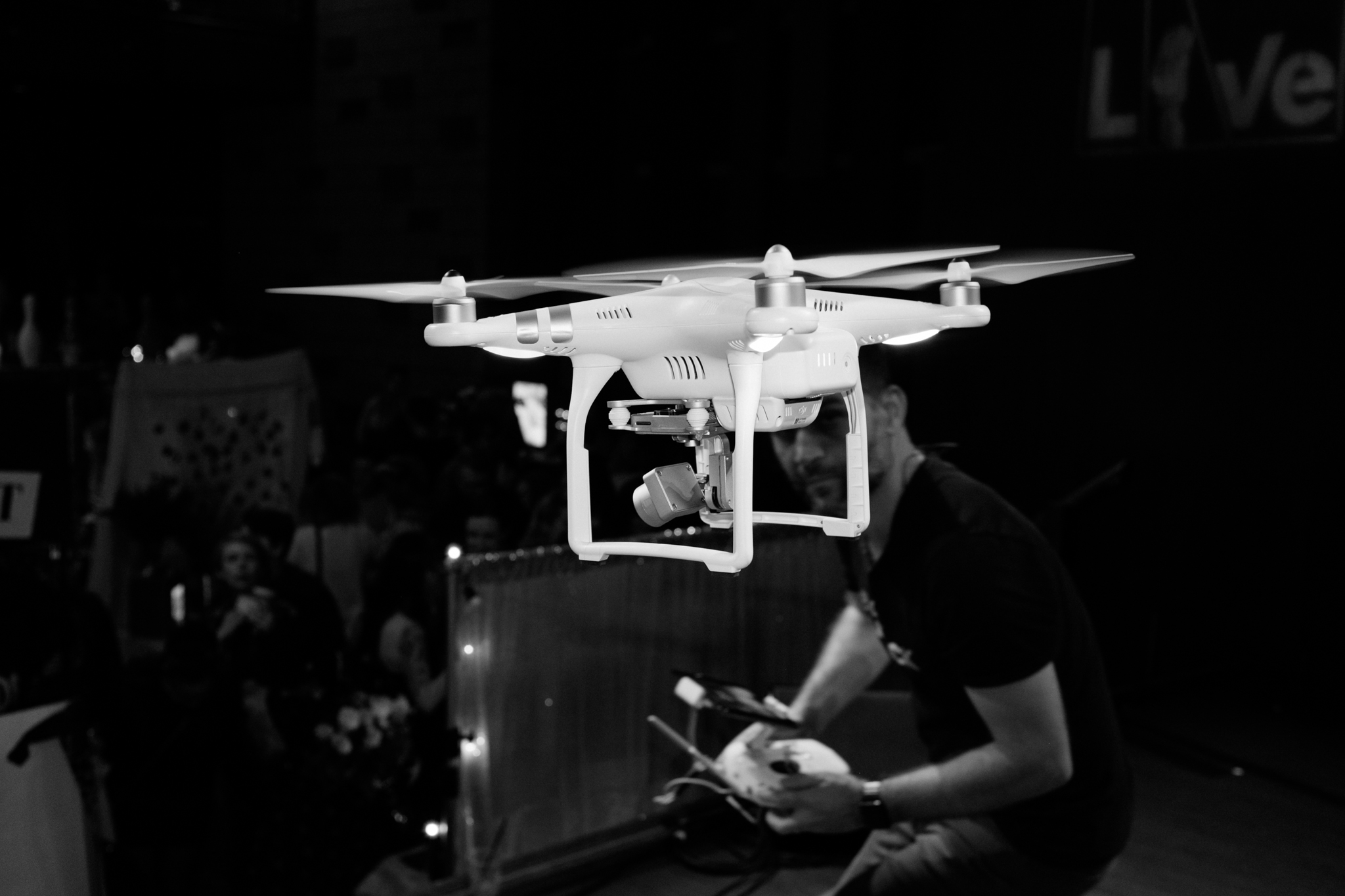 Pretty sure this was the first time a drone was flown inside World Cafe Live.