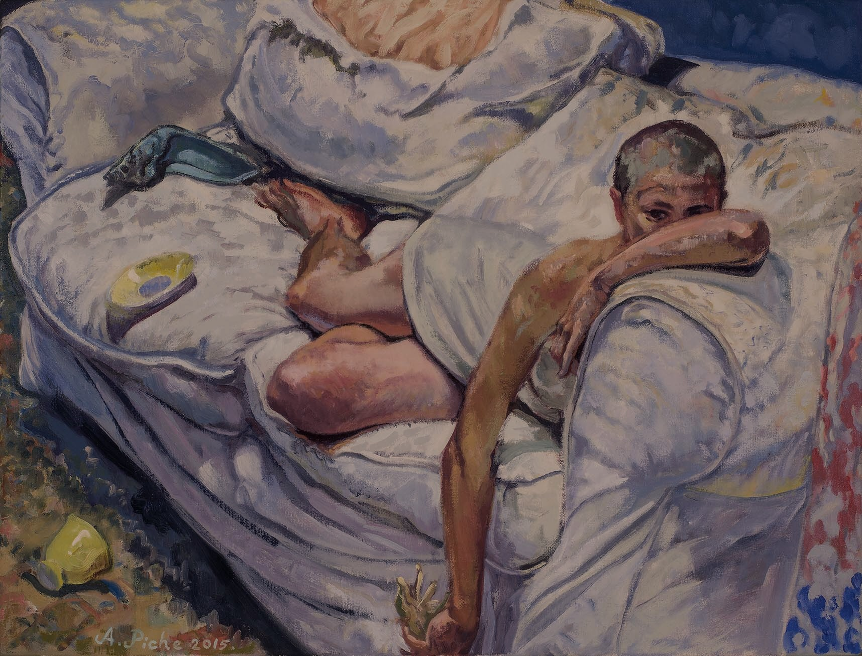 Skin on Brush (Oil on Linen), 2015