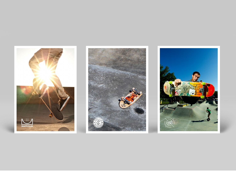 skate club postcards