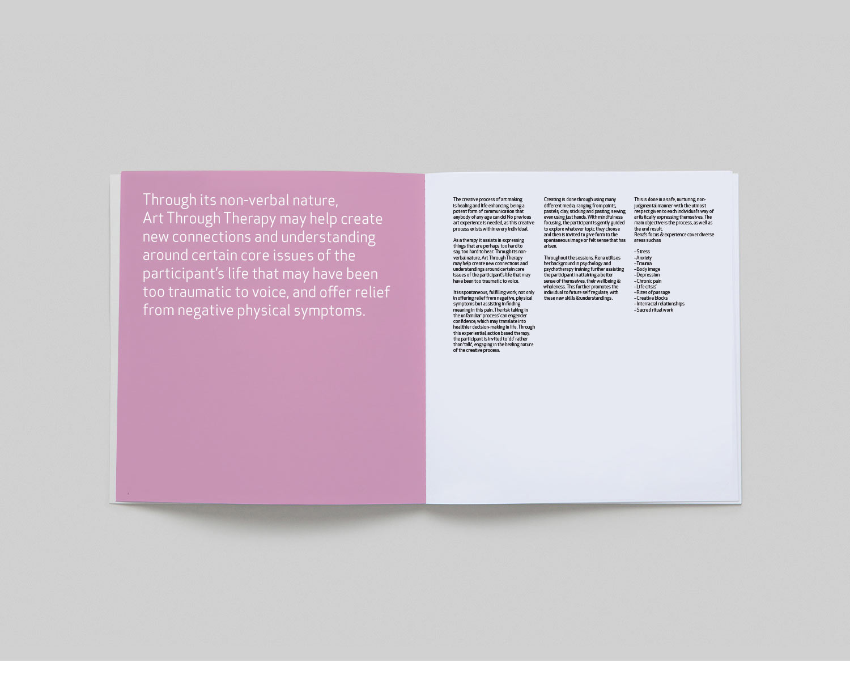art through therapy brochure design