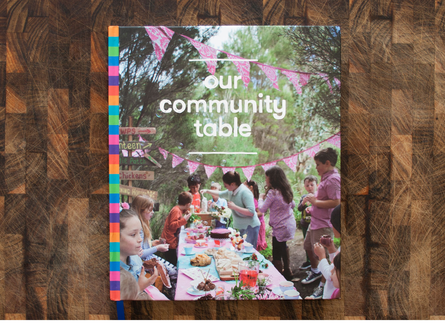 our community table cookbook design