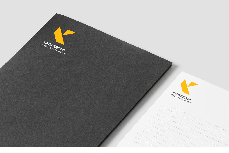 Kato Group folder and notepad