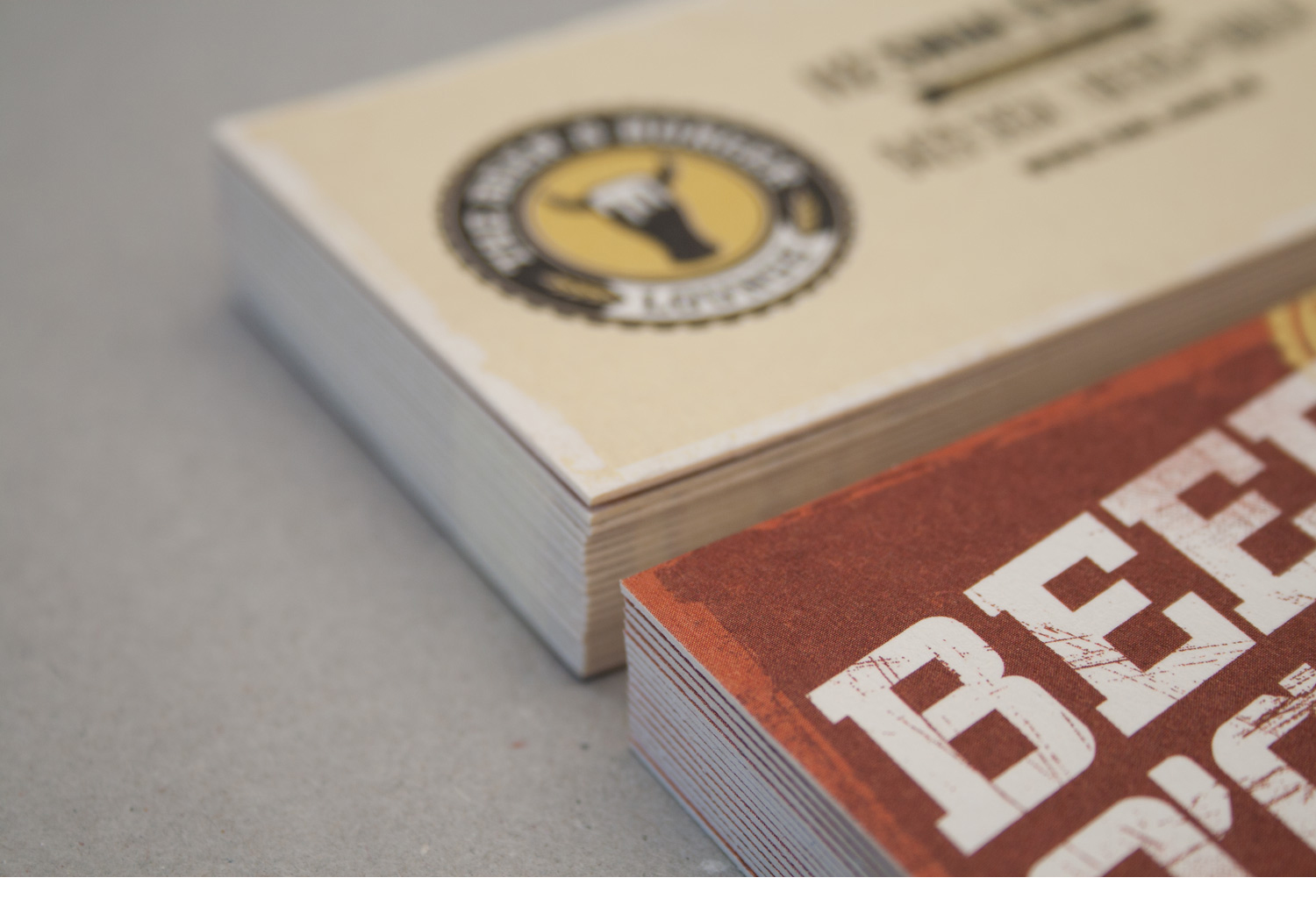 The Beer and burger lounge business cards