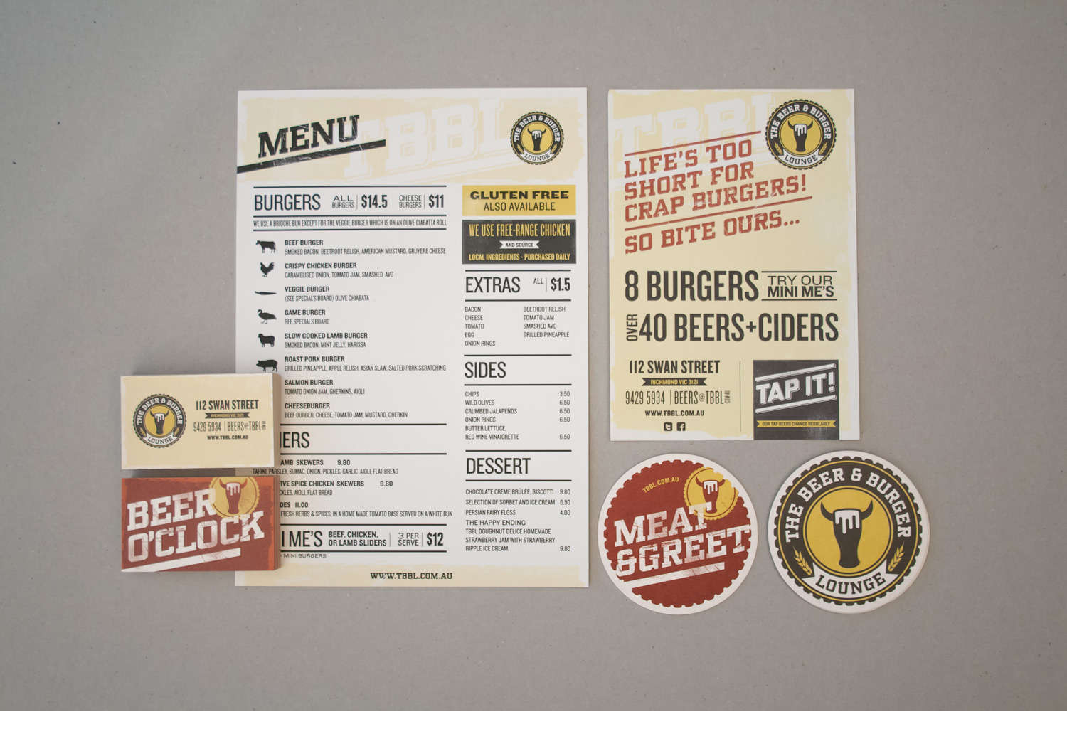 The Beer and burger lounge collateral
