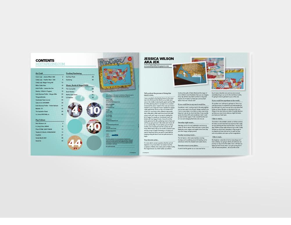 mixtape zine spreads publication design