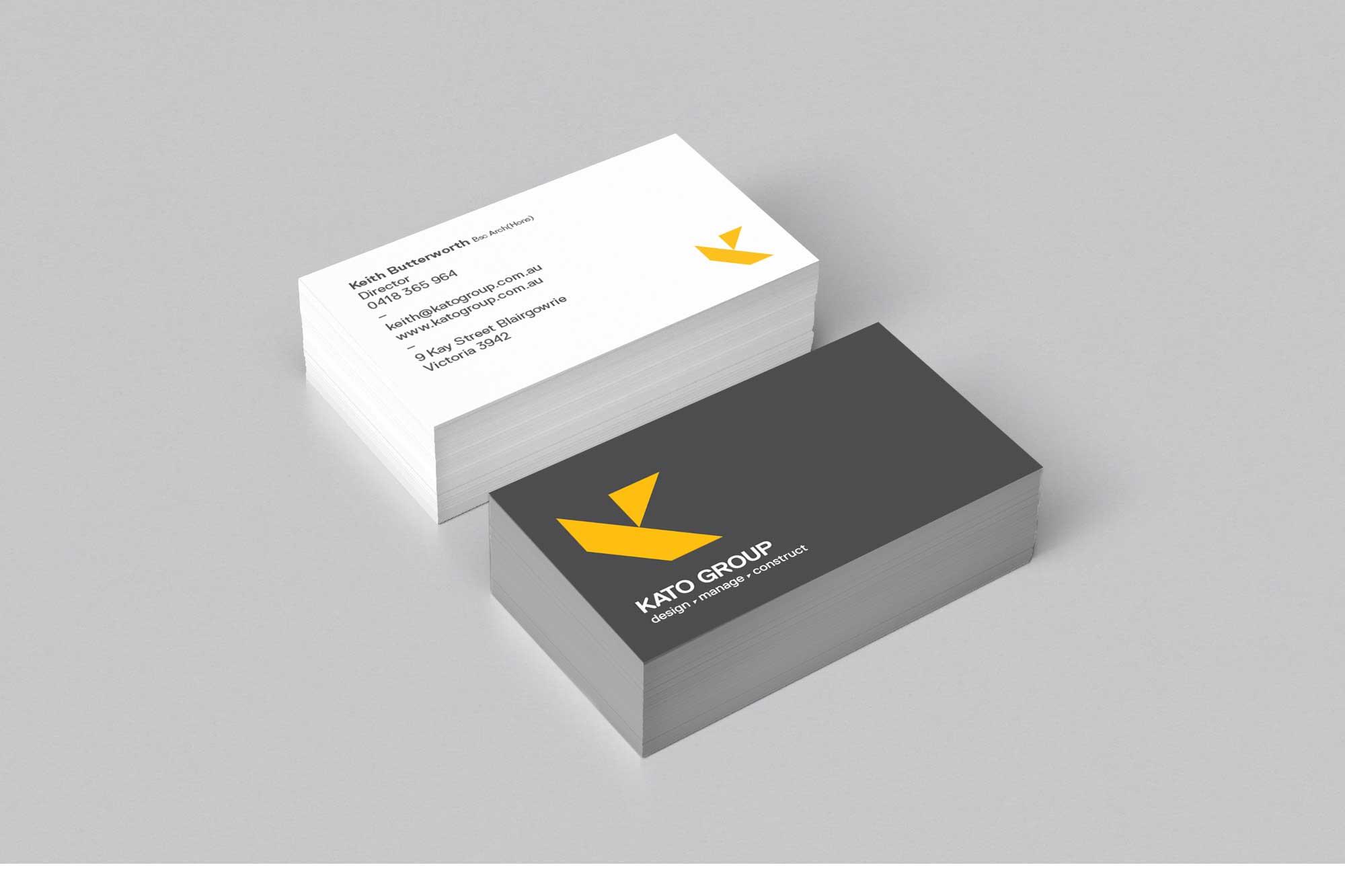 Kato Group business card