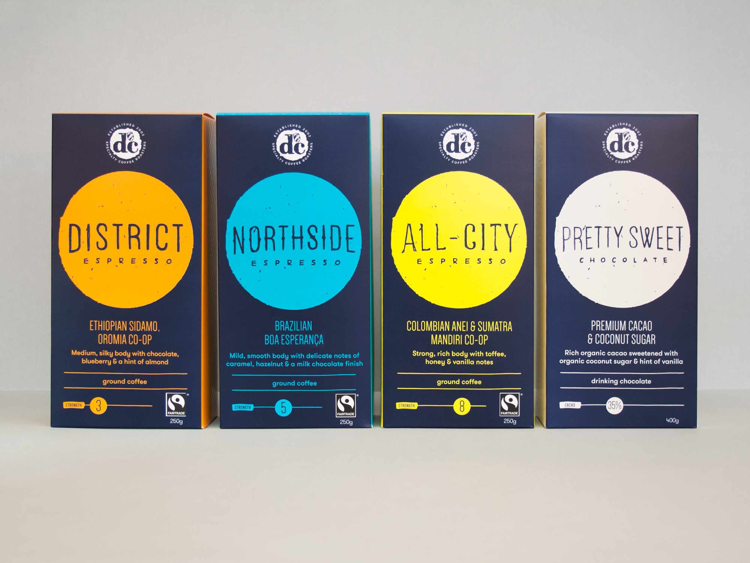 dc specialty coffee roasters retail packaging design