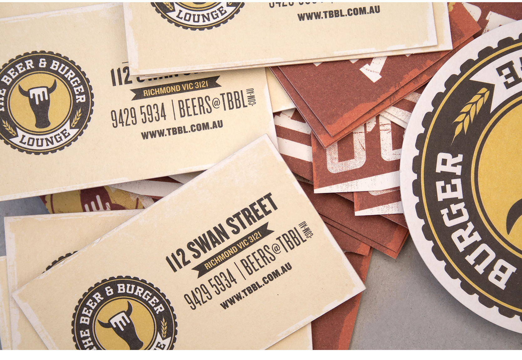 The Beer and burger lounge richmond branding and logo design