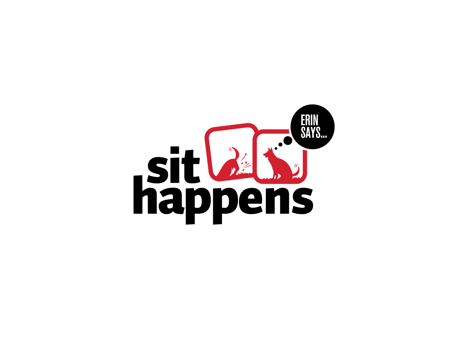sit happens logo design