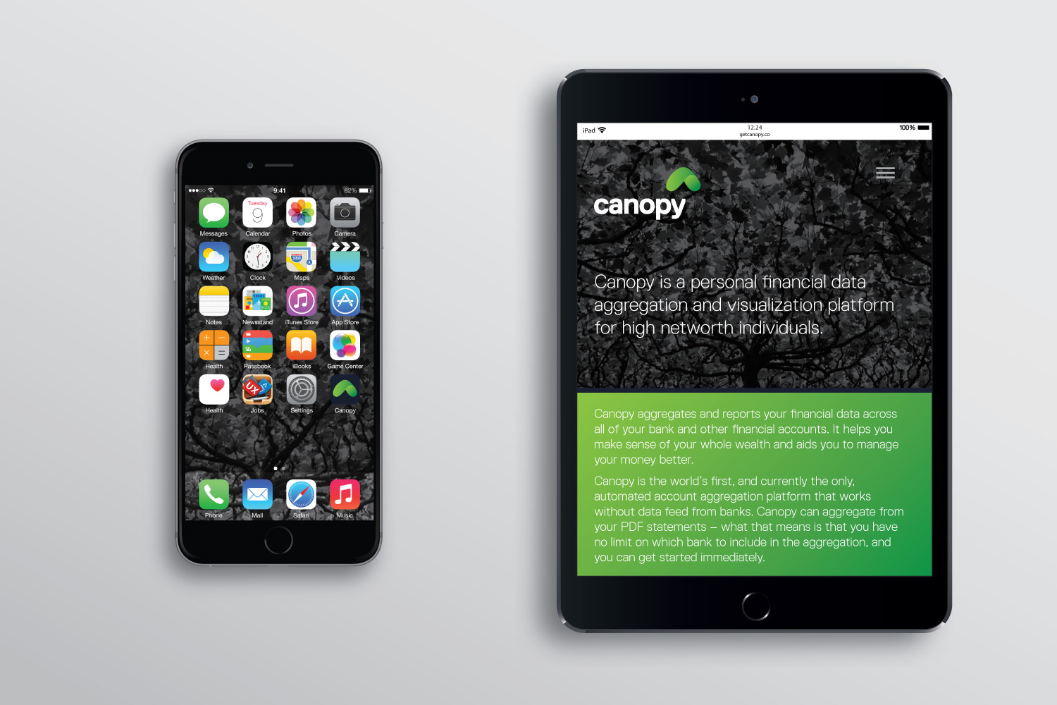 canopy icons and interface