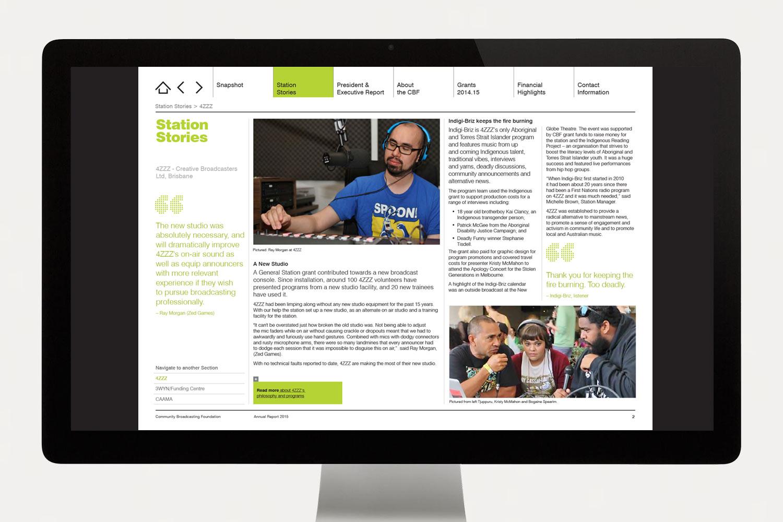 CBF Annual Report station stories
