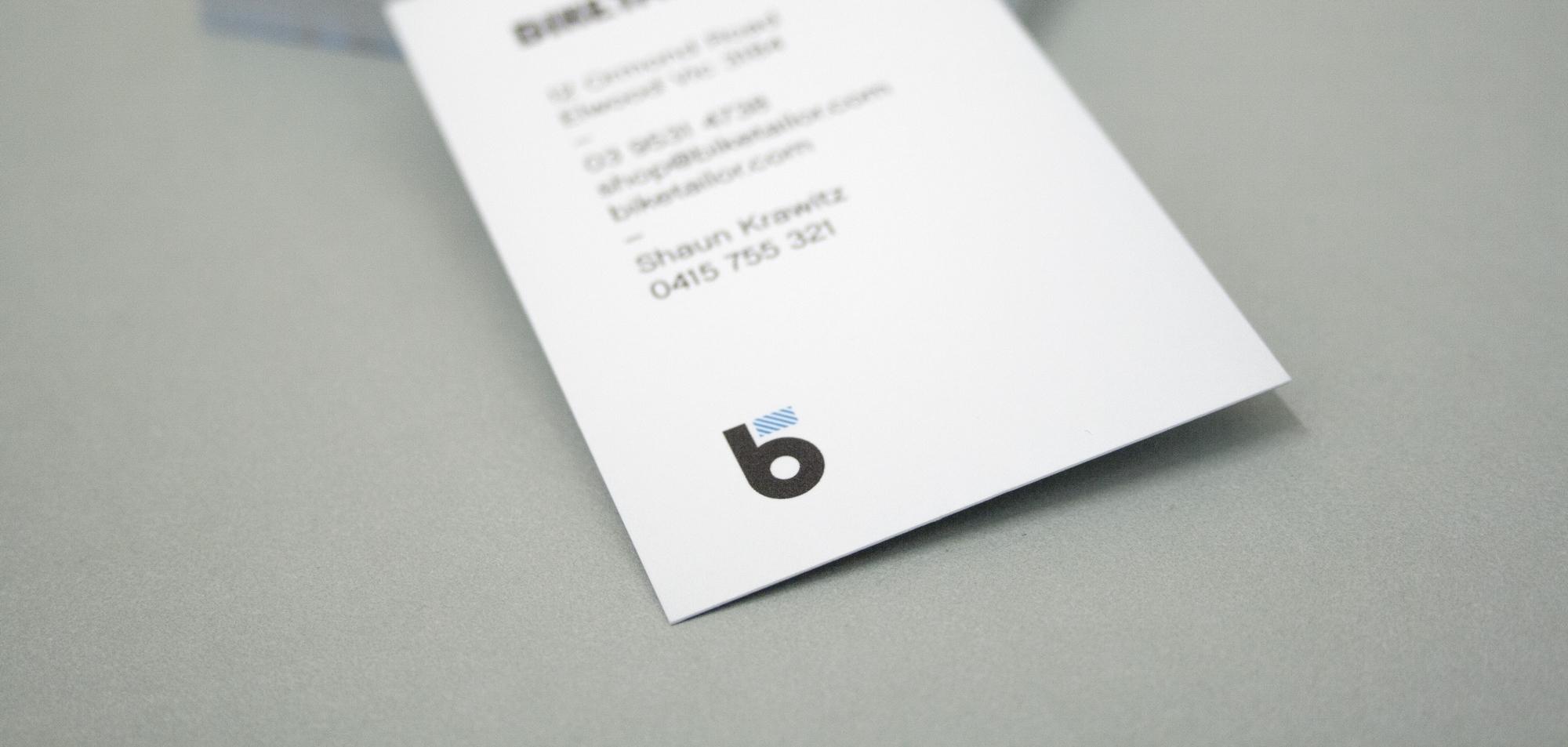Bike Tailor business card close up