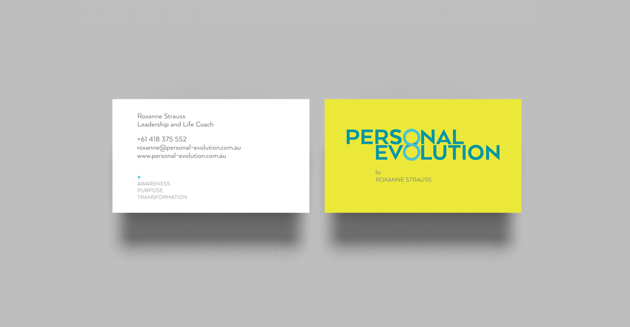 personal evolution business card