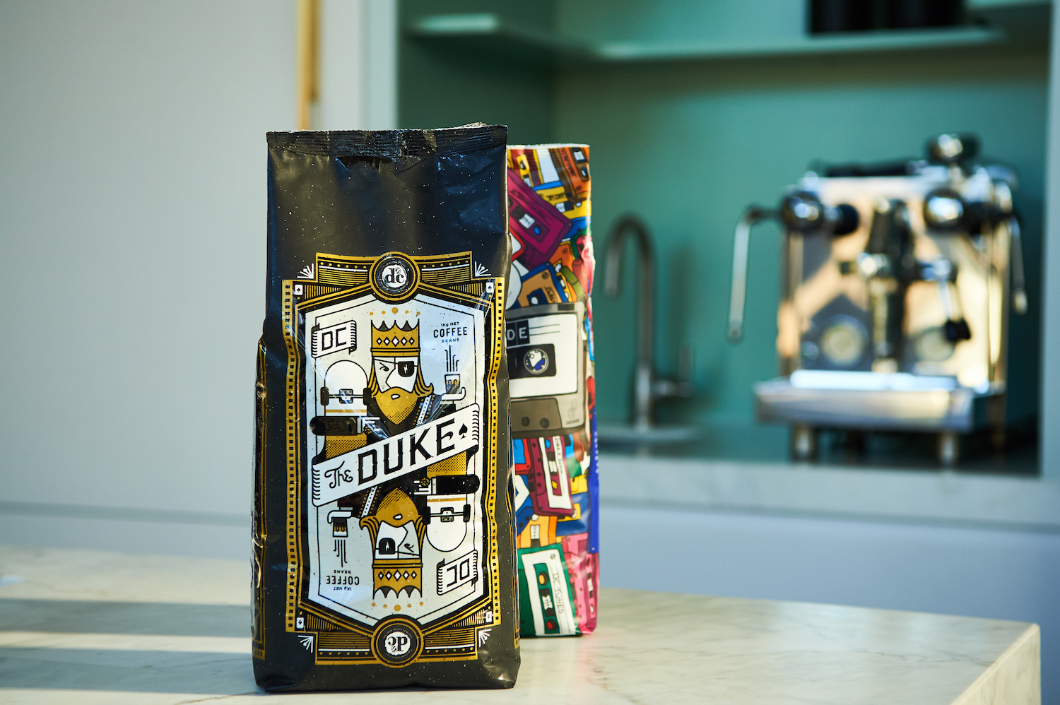 packaging, illustration, coffee design,illustrations by created by south, design and development created by south, dc coffee roasters the duke