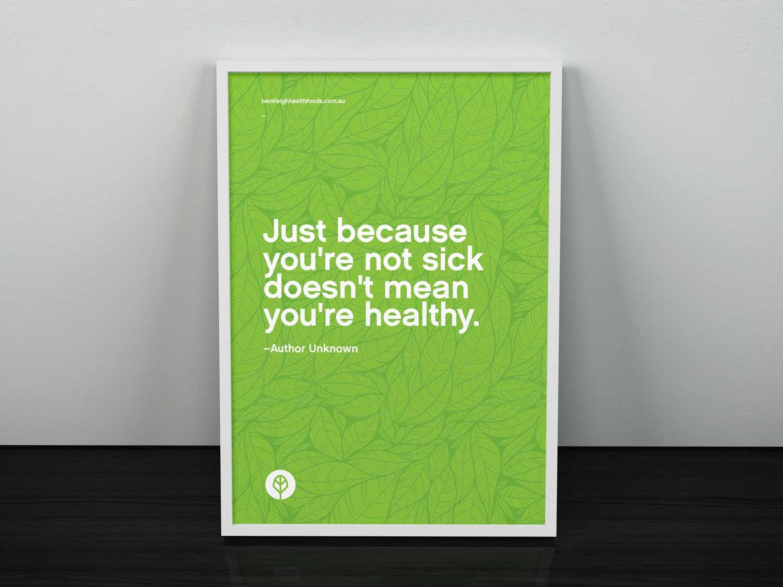 Bentleigh Health Foods window poster