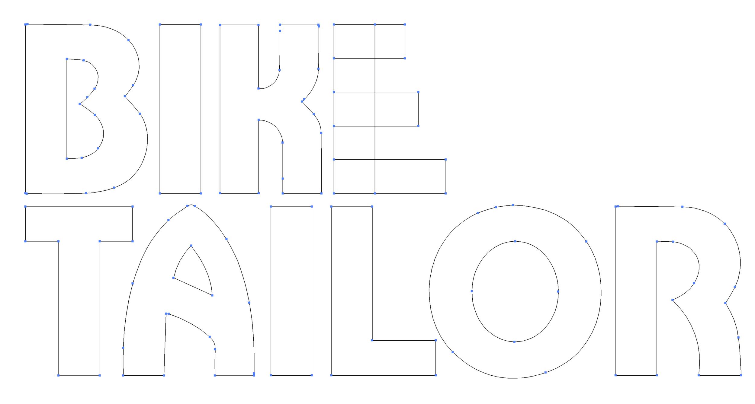 Bike Tailor custom typography and alphabet design