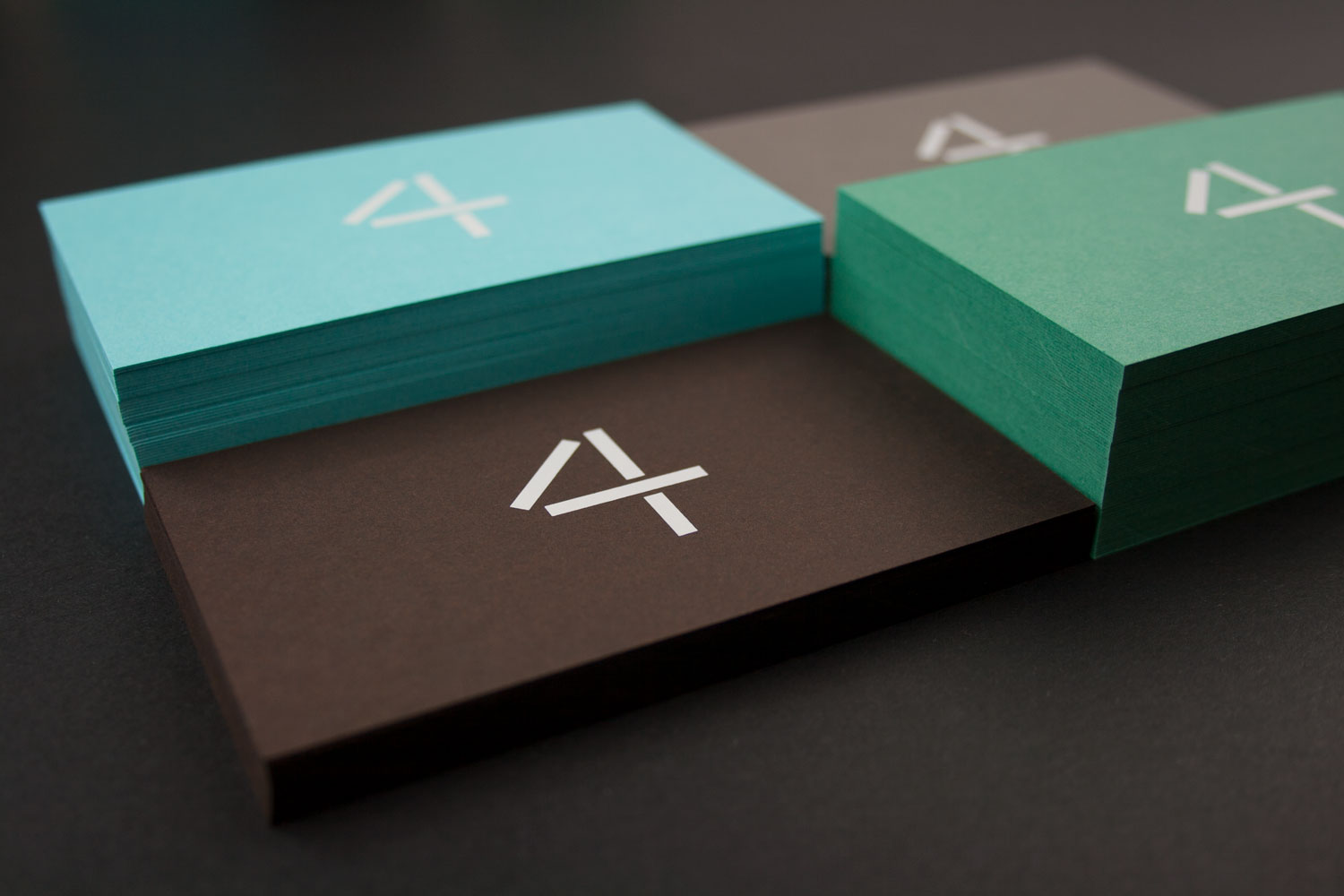 opaque wihite on colorplan, beautiful business cards, logo created by south