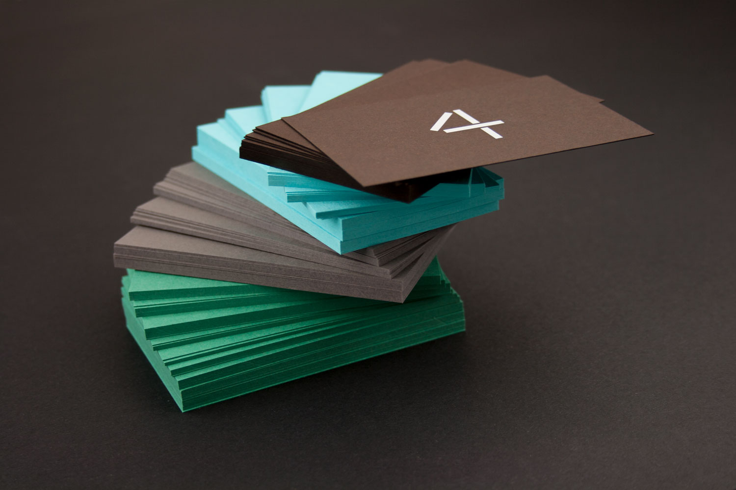 4 little reasons business card stack